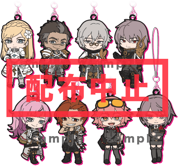 Original rubber charm (8 patterns)